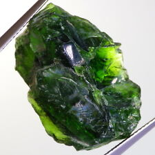 CHROME DIOPSIDE-SIBERIA 33.10Ct SEMI TRANSPARENT-SEMI FACET/CABOCHON GRADE-BEST!