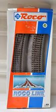 HO Scale-Roco Lines 42526 R6 X 6 Curved Track Rubber Roadbed 2 Rail (PG)
