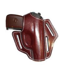 Belt gun holster Makarov, Walther PPK, Bersa Thunder .380, genuine leather  1010