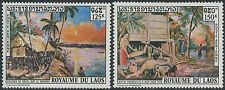 LAOS PA N°85/86** Tableaux de Chamane Prisayane, 1971 Paintings set MNH
