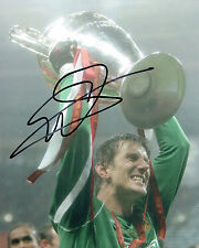 Edwin Van Der SAR Signed Autograph 10x8 Photo AFTAL COA Man Utd Champions League