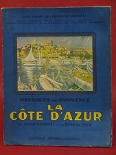 LA CÔTE D'AZUR - Paysages de st-Raphaêl à la Baie de Nice - A. DONNADIEU - 1936