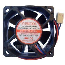 Evercool EC6025L12BA 60mm x 25mm 3-Pin 2BB Fan NEW