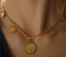 Antique 9K Real Gold Filled Womens Necklace,F2224