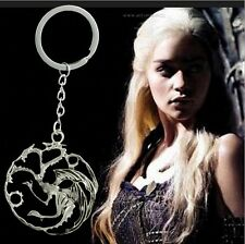 GAME OF THRONES SONG FIRE & ICE KEYRING TARGARYEN + GIFT POUCH DRAGON KEYCHAIN