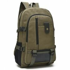 Men's Women Canvas Backpack bags Messenger rucksack laptop bag!green