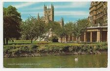 J Salmon Postcard, 1-53-01-03, Parade Gardens and Abbey, Bath 1967