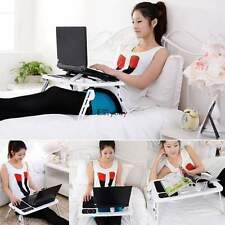 Laptop Table Stand With Cooling Fan USB Ports Foldable Desk Bed Multifunctional
