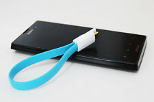Popular Blue Magnet Flat Short Micro USB Data Charger Cable Cord For iPhone 5
