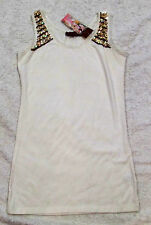 BOO RADLEY Size 10 S Womens Cream Sequinned Singlet Top NEW