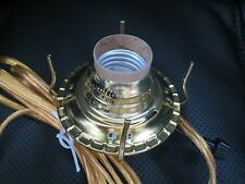 New #2 Brass Plated Electric Burner Gold Cord Oil Electrified Lamp Part EB206