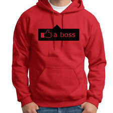 LIKE A BOSS Funny Facebook Humor T-shirt Novelty Gag Gift Hoodie Sweatshirt