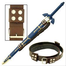 Brown Leather Master Zelda Link Hyrule Sword Leather Belt Strap Holder Holster