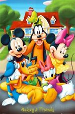 DISNEY MICKEY MOUSE AND FRIENDS POSTER MINNIE DONALD PLUTO GOOFY 24x36 FREE SHIP