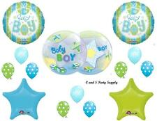 IT'S A BOY AIRPLANE & BLOCKS BABY SHOWER Balloons Decorations Supplies Planes