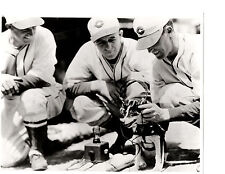 1940'S CINCINNATI REDS TEAM 8X10 PHOTO CROSLEY RADIO HEADPHONES DOG MASCOT