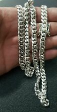 """Miami Cuban Link Chain Sterling Silver  26 """" 8mm.  102 grams"""