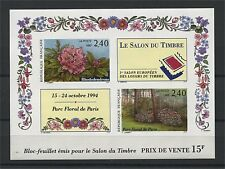 FRANCE, SOUVENIR SHEET FLOWERS (SALON DU TIMBRE) 1993 IMPERFORATED MNH