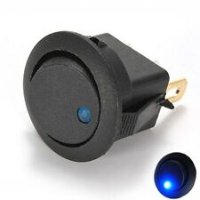 Blue 12V LED Dot Light Car Auto Boat Round Rocker 2P ON OFF Toggle SPST Switch