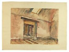 Farnham Maltings Couch Floor 1969 Unframed Signed Watercolour Painting Harrison