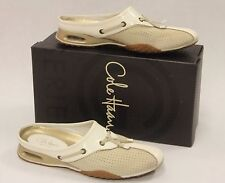 COLE HAAN Air Bria. Perf Mules Slip On Ivory Suede Size 6AA 470076