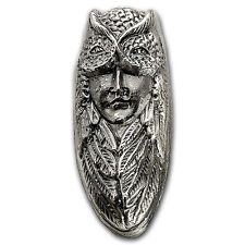 5 oz Silver Bar - Bison Bullion (Owl Maiden) - SKU #93782