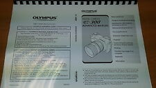 OLYMPUS E-300 DIGITAL CAMERA PRINTED INSTRUCTION MANUAL USER GUIDE 211 PAGES