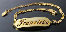 FRANZISKA - Bracelet With Name - 18ct Yellow Gold Plated - Gifts - Jewellery