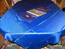 GOLD & BLUE FABRIC TABLE COVER LOT~ROYAL PRINCE BABY SHOWER~BRIDAL PARTY