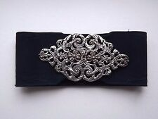 Vintage Silver Nurses Buckle & Belt - Lon 1971 - Irish Four Leaf Clover Design