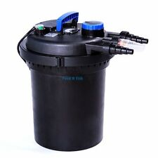 Pond Pressure Bio Filter 4000GAL W/ 13W UV Sterilizer Koi Fish Easy Backwash