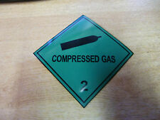 "100mm ""Compressed Gas"" MAGNETIC Sign - Van 