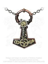 Alchemy Steamhammer Pendant/Necklace P592 steampunk/empire/Victorian/cogs/gothic