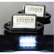 2X 12V-30V WHITE 3 LED LICENSE PLATE TAG LIGHT BOAT RV TRUCK TRAILER INTERIOR