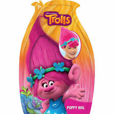DREAMWORKS TROLLS POPPY WIG PINK HAIR COSTUME DRESS UP 2016 CHRISTMAS GIFT