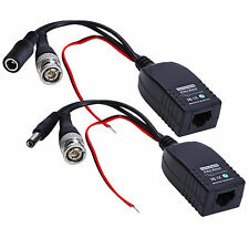 UTP BNC to RJ45 CAT5 Video + Data + Power Supply Balun Connector For CCTV Camera