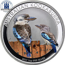 2017 Australia 1 oz Silver Kookaburra BU 1 Dollar Silver Coin coloured