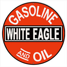 White Eagle Gas And Oil Sign 18 Round