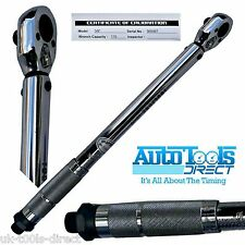 "3/8"" Drive Torque Wrench Calibrated Range 20 - 110Nm Certificate Of Calibration"