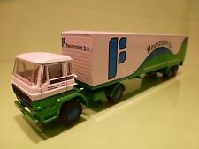 LION CAR 69 36 DAF 2100 TRUCK + TRAILER - FLEVOZOOM BV - WHITE 1:50 - PROMO