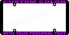 LIGHT PURPLE LETTERING THIN STYLE CUSTOM PERSONALIZED COLOR License Plate Frame