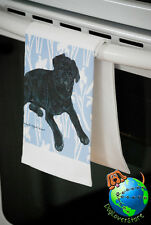 Pug Kitchen Hand Towel Black
