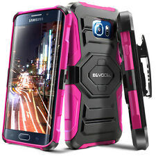 Evocel® Galaxy S6 Edge Rugged Holster Case with Kickstand & Belt Swivel Clip