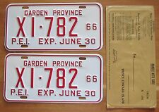 Prince Edward Island 1966 TRUCK License Plate PAIR & ENVELOPE - SUPERB # X1-782