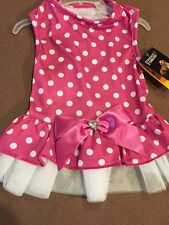 Friends Forever PINK  POLKA DOT Party DRESS Puppy/Dog XS