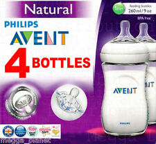 4 x Philips AVENT 260ml 9oz Baby Feeding Bottle Natural Range SCF693/47