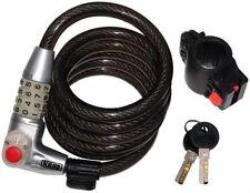 CK Kasp K750L180 12mmx1800mm cerradura de combinación para bicicleta de cable en espiral