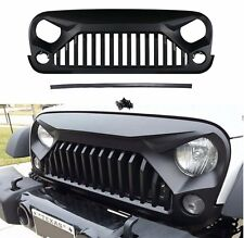 Front Topfire Matte Black Grille Hood Fit For Jeep Wrangler JK Rubicon 07-17