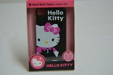 HELLO KITTY HARD SHELL CASE FOR IPHONE 4/4S BLACK WITH GOLD STARS * NIB