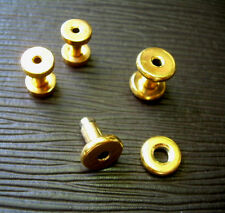 One Pair 6g 4mm 14k Gold Plated Screw Tunnel Plugs Plate Over Surgical Steel ML2